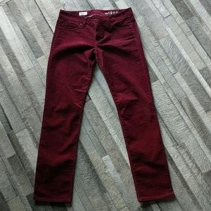 Real Straight GAP oxblood cordaroys